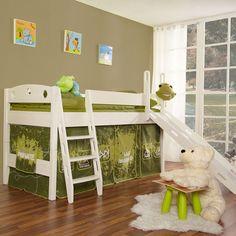 TICAA Rutschbett Kiefer Weiß - Private - ohne Tunnel | Kinderzimmer | Möbel | baby-markt.at