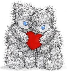 Tatty teddy in love