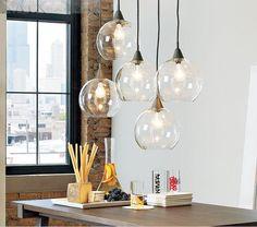 Nordic Industrie Glaskugel Pendelleuchte LED Hängelampe Design Aussetzung Leuchte E27 110-220 V Freies Verschiffen