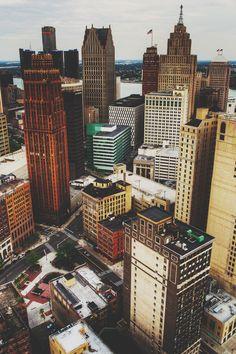 Detroit downtown (Michigan).