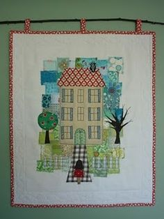 mini house #quilt - Does this look little Madeline?  It does to me, grin.