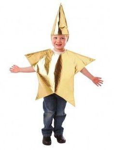 I bambini di Natale Gold Star Costume Ragazzi Ragazze Costume Natività Giocare