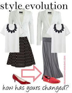 Like the rest of your life, your personal style will often undergo an evolution over time. Here's how my style has changed. What about yours? [http://www.franticbutfabulous.com/2014/10/28/style-changing-changed/]