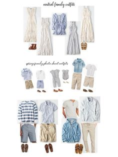 spring or summer family photo outfits! spring or summer family photo outfits! Family Photography Outfits, Fall Family Photo Outfits, Spring Family Pictures, Family Portrait Outfits, Family Photo Colors, Beach Picture Outfits, Family Beach Pictures, Clothing Photography, Family Pics