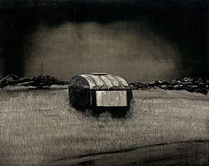 Michael Newton, Wyeth, Oil on Canvas and Wood. Caravan Painting