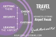 Advanced ESL listening Practice for Adults Travel Vocabulary 1