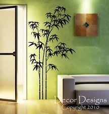 """Grande de bambú Vinilo Pared Autoadhesiva De 36 pulgadas de ancho en 18,5 """"W"""
