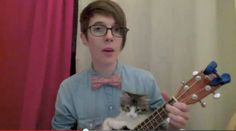 This Kitten Plays Ukulele...idk which is better the nerdy love song or the kitten trying to help play it