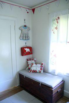Girl's nursery corner - Idea for Cedar chest?