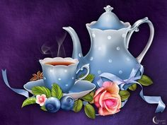 "Barnali Bagchi ~ ""Tea Time"" ~ moonbeam1212."