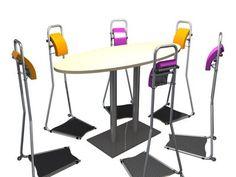 Staand vergaderen? Gebruik Stand4Work. De actieve stastoel geeft je een comfortabel steuntje in de rug waardoor de borst zich opent en de geniale ideeën vanzelf komen.