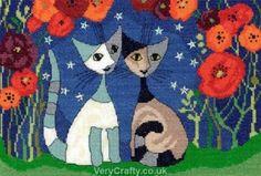 Poppy Nights - Rosina Wachtmeister Cats - Cross Stitch Kit from Bothy Threads