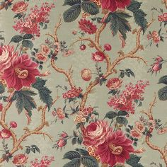 Aquitaine Fabric A beautiful printed cotton with a detailed floral design by…