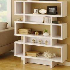 Celio Three-Tier Bookcase / Display Cabinet in Matte White - modern - bookcases cabinets and computer armoires - AllModern