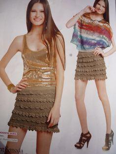 Inspirações de Croche com Any Lucy: Saia
