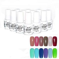 KCE Brand New Designed  NET WT 5ML Nail Gel Polish UV LED Shining Colorful 12 Colors 5ML Anne