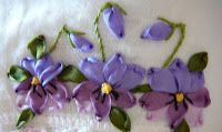 Pansy in Silk Ribbon Embroidery from caroldaisy.blogspot.com actually there are so many free tutorials for beginners there._.