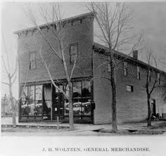 Woltzen Store, Castle Rock, Colorado. This store was started in 1895 by John. Henry Woltzen at Third and Perry Streets in Castle Rock. In 1898, Woltzen moved to this larger store at Third and Wilcox.  :: Photograph Collection