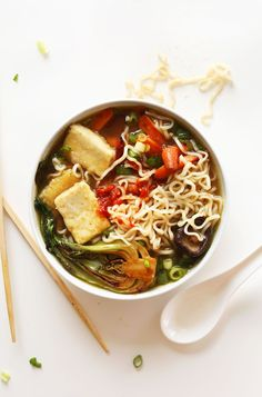 AMAZING Vegan Ramen with just 10 ingredients! Simple methods, plant based, SO delicious! #vegan #recipe #ramen #soup #healthy #dinner
