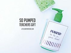 """Teacher Printable - """"pumped to be in your class!"""""""