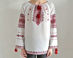 Embroidered peasant blouse Vyshyvanka / Boho blouse by Cheremshyna