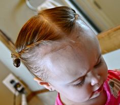 {simply sadie jane}: 15 HAIRSTYLES FOR YOUR BUSY TODDLER Great hairstyles for babies whose hair is just long enough to be in their eyes all the time. Wish I'd had this when Teagan was little. Baby Girl Hairstyles, Princess Hairstyles, Great Hairstyles, Toddler Hairstyles, Kids Hairstyle, School Hairstyles, Formal Hairstyles, Hairstyles Haircuts, Wedding Hairstyles