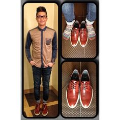 Prim and proper Vhong Navarro, Celebrity Pictures, Dapper, Oxford Shoes, Dress Shoes, Celebrities, Long Sleeve, Instagram Posts, Leather