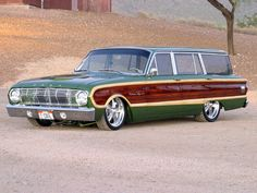 63 Ford Falcon wagon. Now THIS is one cool woodie!  LOVE this car! Ford made some great wod style wagons.