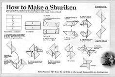 Origami : commment faire un shuriken