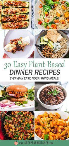 Vegan Dinner Recipes, Vegan Dinners, Whole Food Recipes, Healthy Recipes, Family Recipes, Diet Recipes, One Pot Vegetarian, Vegetarian Comfort Food, Healthy Comfort Food