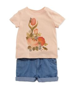 NM-Stella+McCartney- Short-Sleeve+Floral-Print+Jersey+Tee+&+Denim+Shorts+by+at+Neiman+Marcus.