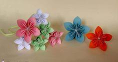 Flores kusudama de colores. ¡Aprende a hacerlas!