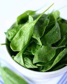 Eating good skin foods can benefit your complexion as much as any cream. Try these easy and delicious recipes for healthy skin and glowing, gorgeous skin will always be on the menu. *Summer Spinach Salad @Hannah Mestel Mestel Robbins