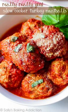 5 Healthy Slow Cooker Recipes That Will Melt In Your Mouth - Crockpot Turkey Meatballs