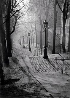 Brassaï    Les escaliers de Montmartre (1930)
