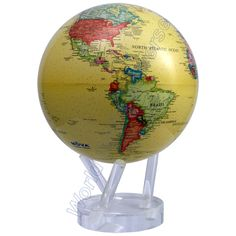 "MOVA 8.5"" Antique Yellow Ocean Desk Globe would look great in Dad's office."