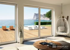 interior design #see view #windows #design #beach house #finestre #Oknoplast…