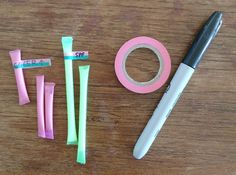 DIY Travel Size Toiletries in Drinking Straws