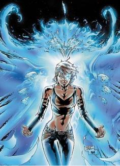 Rachel Grey w/ Blue Flame Phoenix Force