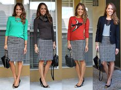 Houndstooth skirt options