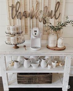 Charming Corner Coffee Bar Ideas at Home 36 - Coffee Station Ideas - Coffee Coffee Bars In Kitchen, Coffee Bar Home, Home Coffee Stations, Coffe Bar, Kitchen Bars, Kitchen Nook, Coffee Kitchen Decor, Coffee Bar Ideas, Coffee Bar Station