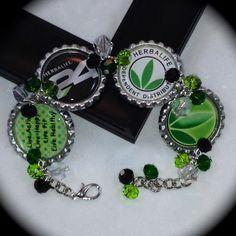Herbalife Bottle Cap Bracelet on Etsy, $18.00