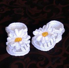 Crochet-chaussons bébé sandales de bébé au par NPhandmadeCreations