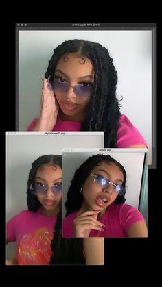 Baddie Hairstyles, Black Girls Hairstyles, Braided Hairstyles, Mode Hipster, Curly Hair Styles, Natural Hair Styles, Swag Girl Style, Pretty Black Girls, Black Girl Aesthetic