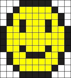 Small Smiling Emoji Perler Bead Pattern / Bead Sprite