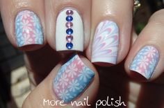 I'm back with a pink and blue skittlette ~ More Nail Polish