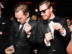 Benedict Cumberbatch & Michael Fassbender dancing at the Golden Globe after party. Perhaps the most perfect picture ever.