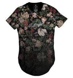 https://www.lojahdr.com.br LOJA HDR Camiseta camisa blusa longline oversized unisex feminina masculina Gamer 33 floral flores