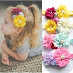 As colorful as your garden, this floral headband will be a great choice for your spring and summer outfit! 4 flowers complete this headband and are glued t. Baby Flower Headbands, Floral Headbands, Girly Things, Girly Stuff, Summer Accessories, Handmade Flowers, Wedding Bands, Little Girls, Bows