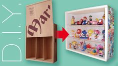 How to turn wine crate into display case / Diy For Kids, Crafts For Kids, Diy Crafts, Pvc Pipe Storage, Pvc Pipe Projects, Display Case, Toy Chest, Crates, Storage Chest